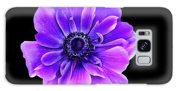 Purple Anemone Flower Galaxy Case