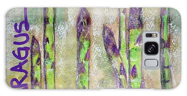 Purple Asparagus Galaxy Case by Kim Nelson