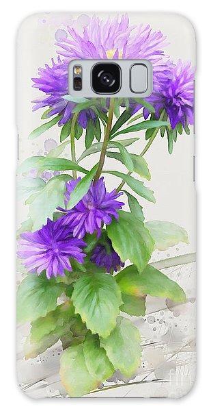 Purple Aster Galaxy Case by Ivana