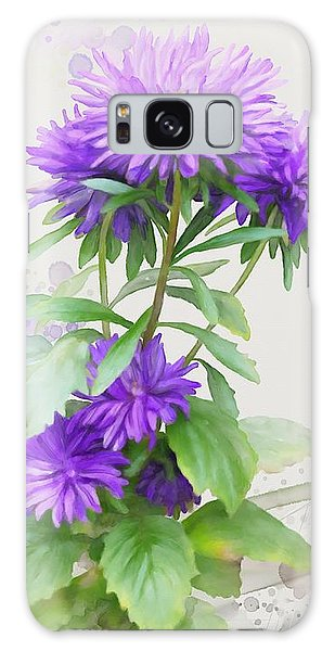 Galaxy Case featuring the painting Purple Aster by Ivana