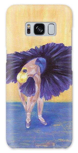 Galaxy Case featuring the painting Purple Ballerina by Jamie Frier