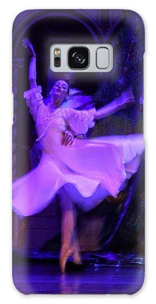Purple Ballet Dancer Galaxy Case