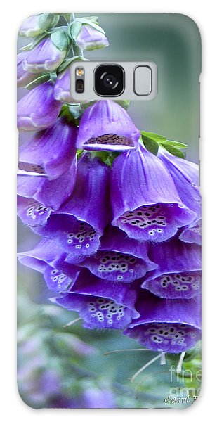 Purple Bell Flowers Foxglove Flowering Stalk Galaxy Case