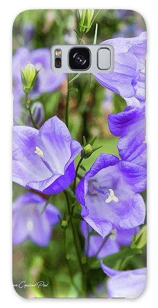 Purple Bell Flowers Galaxy Case by Joann Copeland-Paul
