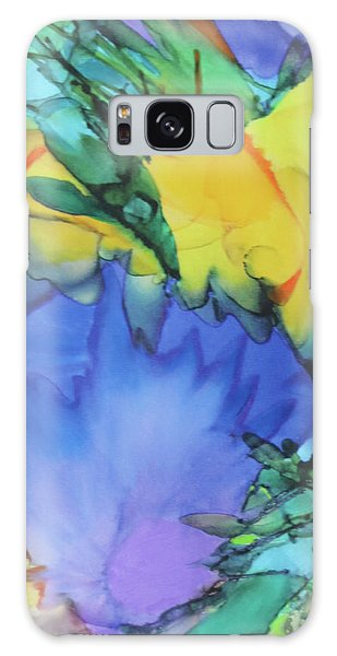 Galaxy Case featuring the painting Purple Bird Of Paradise by Deborah Boyd