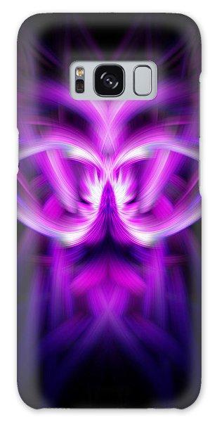 Purple Bug Galaxy Case by Cherie Duran