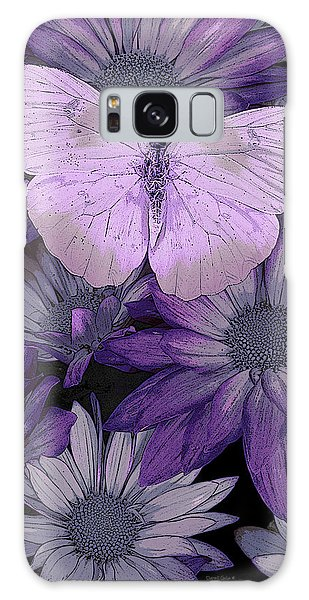 Purple Butterfly Galaxy Case