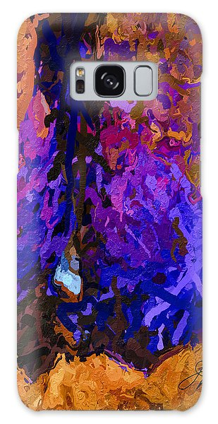 Galaxy Case featuring the painting Purple Cave by Joan Reese