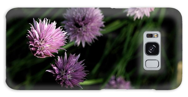 Purple Chives Galaxy Case by Angela Rath