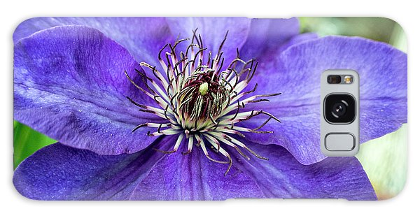 Purple Clematis Galaxy Case by Chrystal Mimbs
