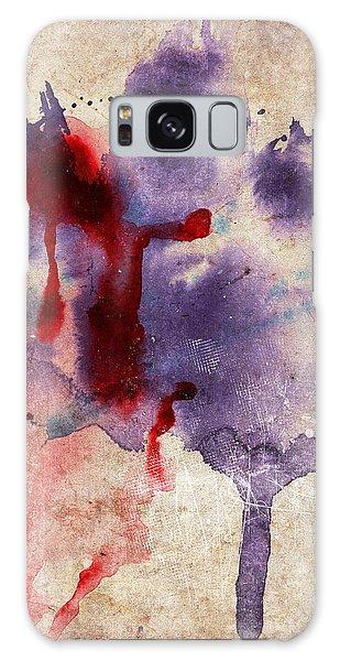 Purple Color Splash Galaxy Case