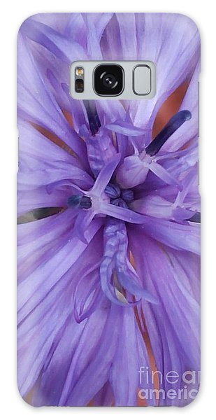 Purple Colorado Wildflower In Macro Galaxy Case
