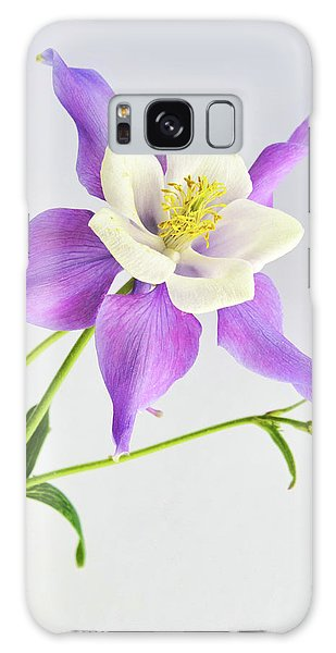 Purple Columbine Galaxy Case by Ann Bridges