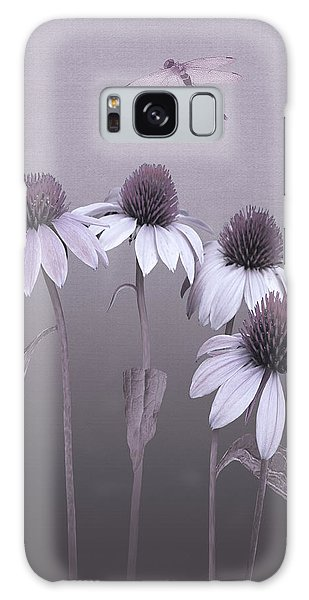 Purple Coneflowers And Dragonfly Galaxy Case