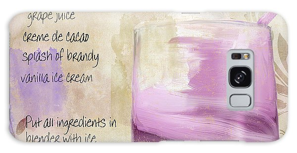 Purple Cow Mixed Cocktail Recipe Sign Galaxy S8 Case