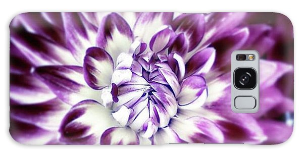 Galaxy Case featuring the photograph Purple Dahlia. A Color Variation Of The by Mr Photojimsf