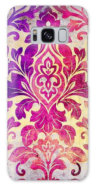 Purple Damask Pattern Galaxy Case