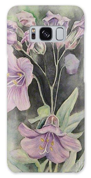 Purple Delight Wildflowers Galaxy Case