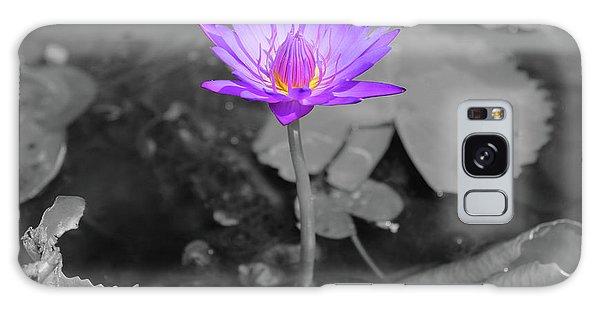 Purple Enlightened Lotus Galaxy Case