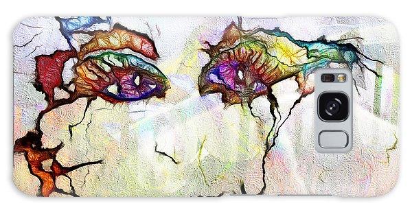 Purple Eyed Nymph Galaxy Case