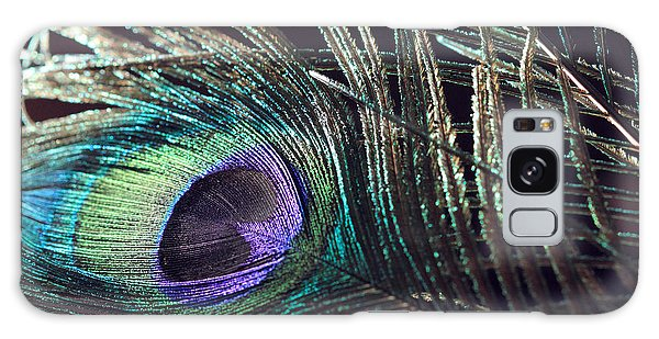 Purple Feather With Dark Background Galaxy Case