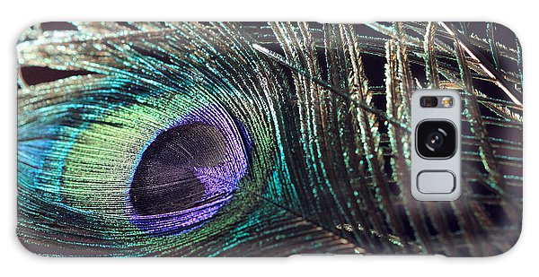 Purple Feather With Dark Background Galaxy Case
