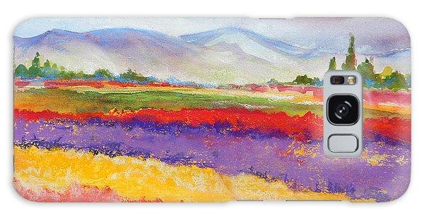 Purple Fields Galaxy Case