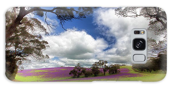 Purple Fields Galaxy Case by Douglas Barnard