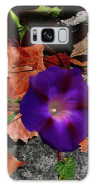 Purple Flower Autumn Leaves Galaxy Case