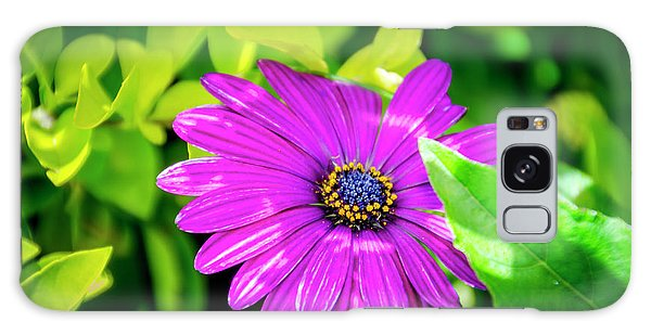 Purple Flower Galaxy Case