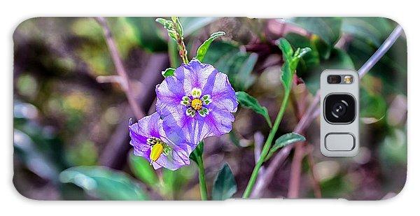Purple Flower Family Galaxy Case