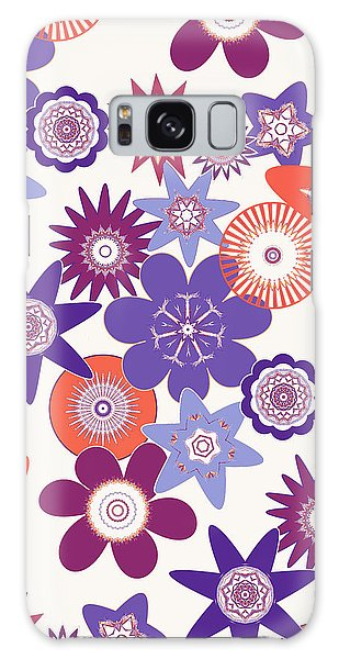 Purple Flower Fantasy Galaxy Case by Methune Hively