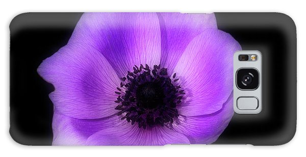 Purple Flower Head Galaxy Case