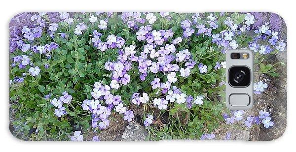 Purple Flower Textured Photo 1028b Galaxy Case