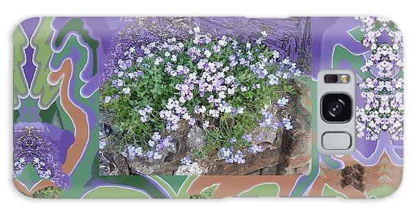 Purple Flower Textured Photo 1028d Galaxy Case