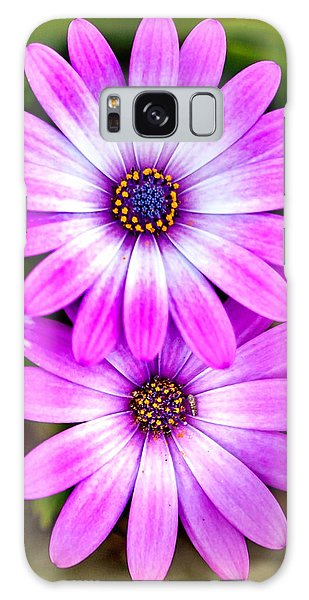 Calendar Galaxy Case - Purple Flowers by Az Jackson