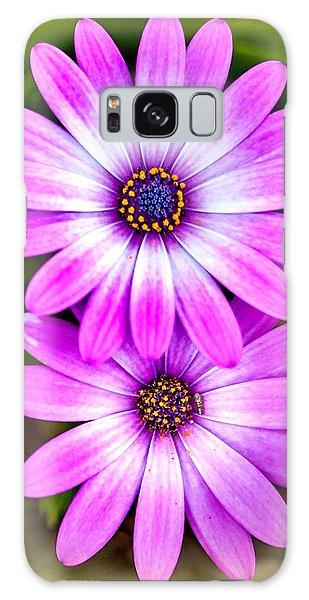 March Galaxy Case - Purple Flowers by Az Jackson