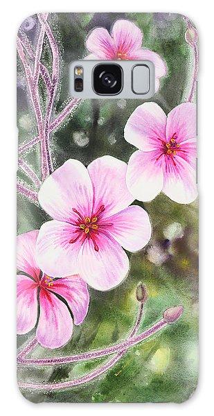 Galaxy Case featuring the painting Purple Flowers In Golden Gate Park San Francisco by Irina Sztukowski