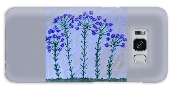 Purple Flowers On Long Stems Galaxy Case