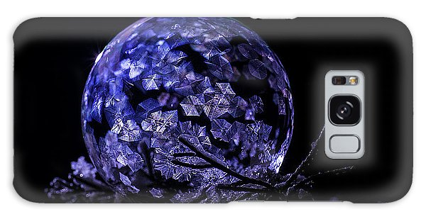 Purple Frozen Bubble Art Galaxy Case