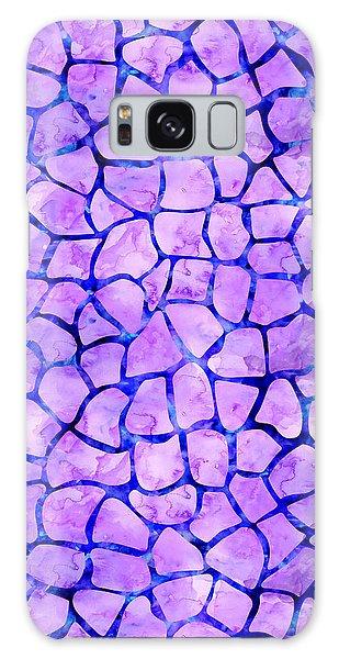 Purple Giraffe Print Galaxy Case