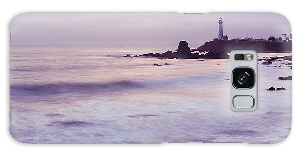 Galaxy Case featuring the photograph Purple Glow At Pigeon Point Lighthouse Alternate Crop by Priya Ghose