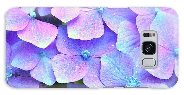 Purple Hydrangeas Galaxy Case