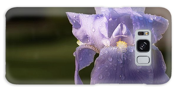 Purple Iris After The Rain Galaxy Case