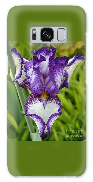 Purple Iris Art Galaxy Case by Rebecca Margraf