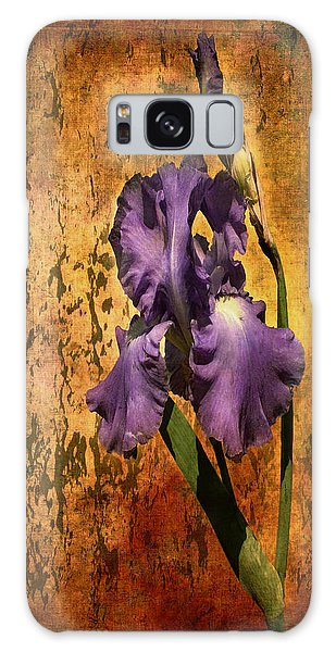 Purple Iris At Sunset Galaxy Case