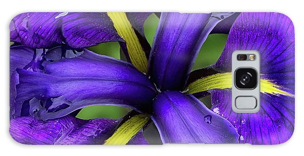 Purple Iris Centre Galaxy Case