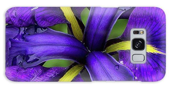 Purple Iris Centre Galaxy Case