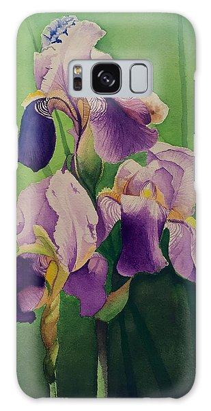 David Hoque Galaxy Case - Purple Iris' by David Hoque