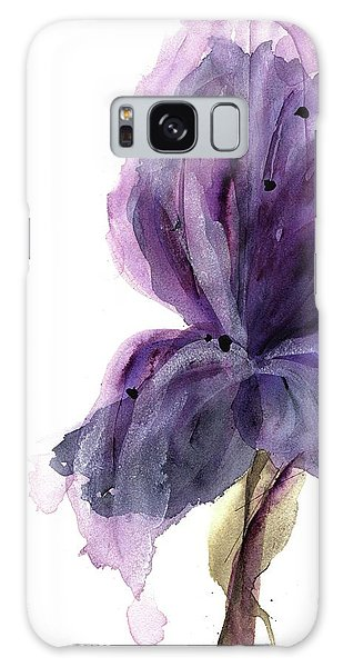 Purple Iris Galaxy Case by Dawn Derman